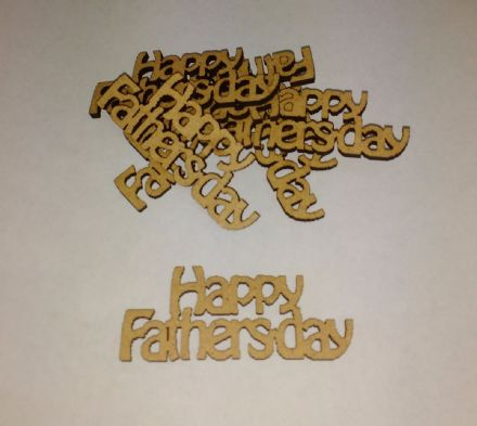 wooden crafts HAPPY FATHERS DAY shapes, laser cut 3mm mdf embellishments,